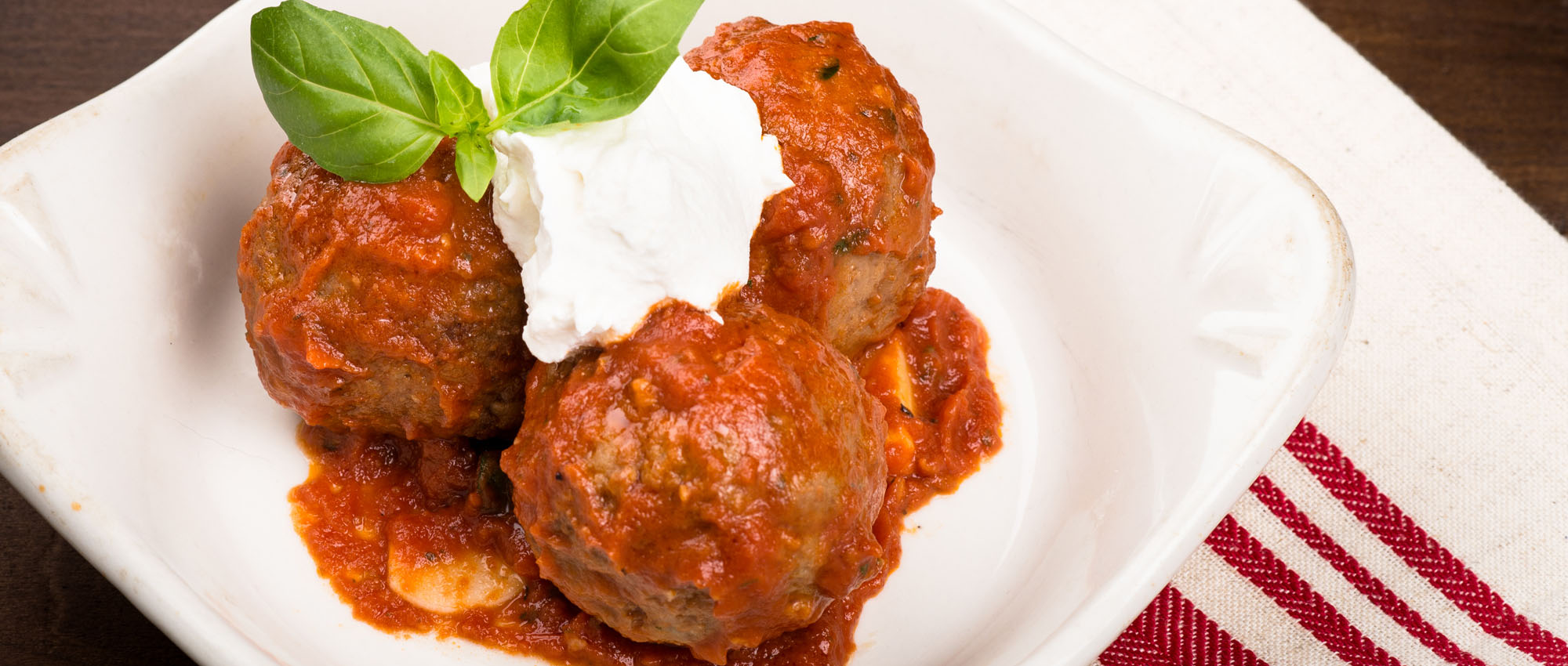 Nonna's Famous Meatballs, our signature dish